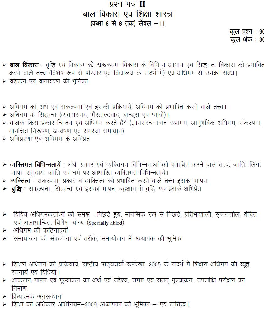MP Samvida Shikshak Verg 2 Syllabus