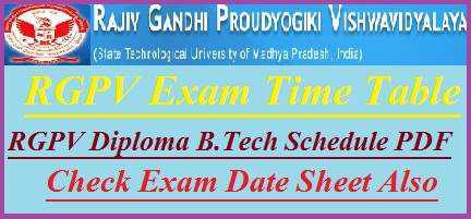 RGPV Time Table 2018-19